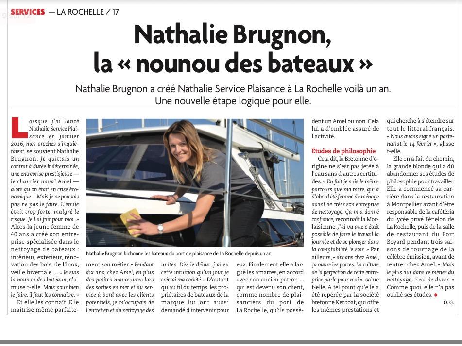Nathalie Service Plaisance , nettoyage bateaux La Rochelle